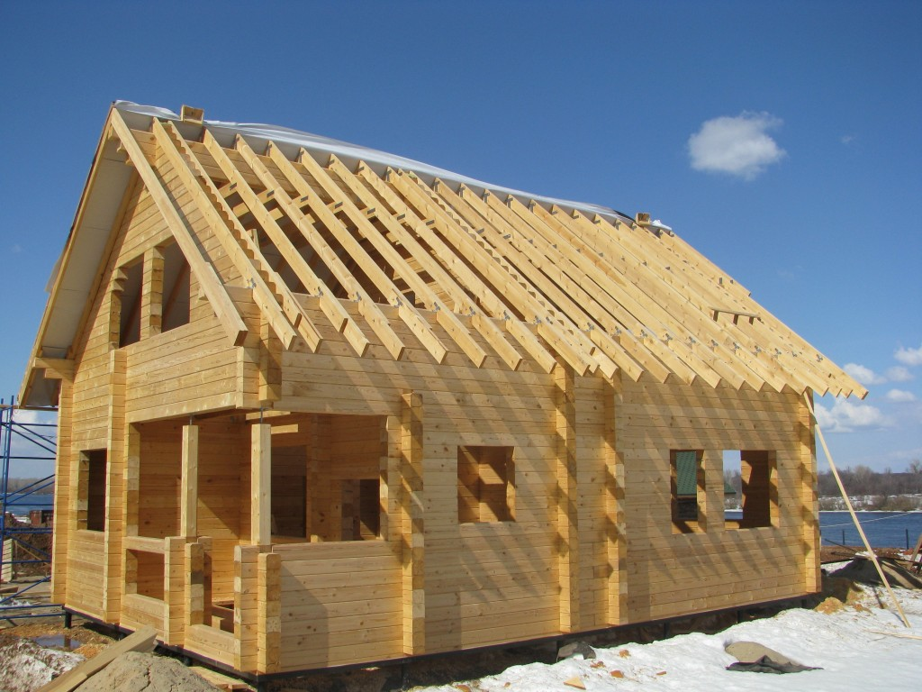 Монтаж стропильной системы крыши на частном доме в Александрове