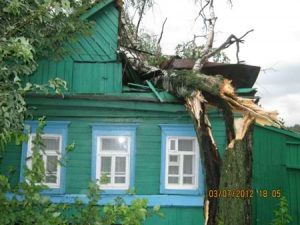 Ремонт повреждений на крыше